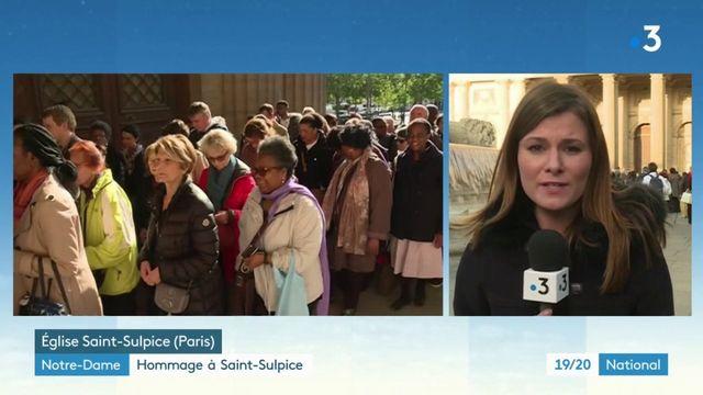 Notre-Dame de Paris : un hommage à l'église Saint-Sulpice en présence de Brigitte Macron
