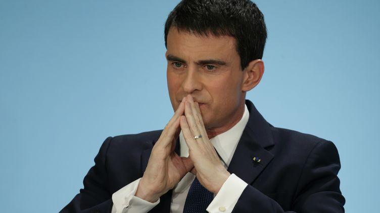 Le Premier ministre, Manuel Valls, donne une conférence de presse à l'Elysée, le 21 janvier 2015. ( PHILIPPE WOJAZER / REUTERS)