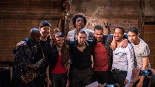 Le groupe The Eddy dans la série The Eddy, de vrais musiciens de haute volée. (NETFLIX)