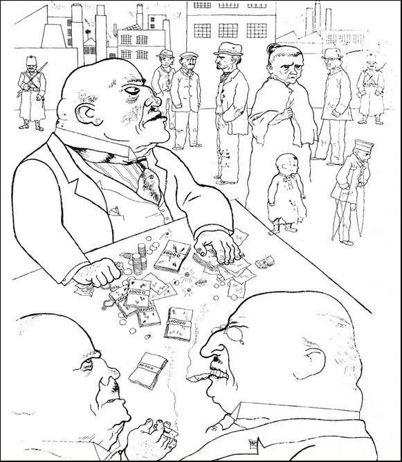 Un dessin de George Grosz  (DR)