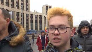 Une partie de la population russe a peur pour ses libertés. (CAPTURE D'ECRAN FRANCEINFO)