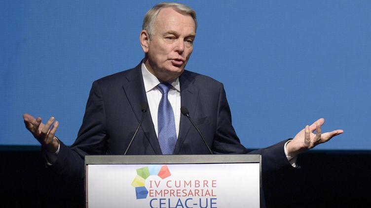 """Depuis Santiago (Chili), le Premier ministre a jugé vendredi 25 janvier 2013 que la bataille pour l'emploi n'était """"pas terminée"""" (RODRIGO BUENDIA / AFP)"""