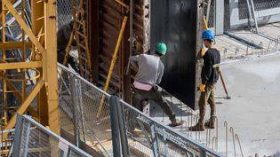 Le secteur de la construction est l'un des secteurs qui s'en sort le mieux avec des faillites ou mises en liquidation qui ont baissé de 15% entre les mois de juillet 2016 et 2017. (MAXPPP)
