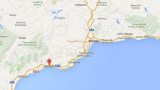 La police espagnole a interpellé à Marbella, dans le sud de l'Espagne,quatre Français accusés d'avoir séquestré pendant deux mois un homme d'affaires français, annonce-t-elle mardi 15 septembre 2015. (GOOGLE MAPS / FRANCETV INFO )
