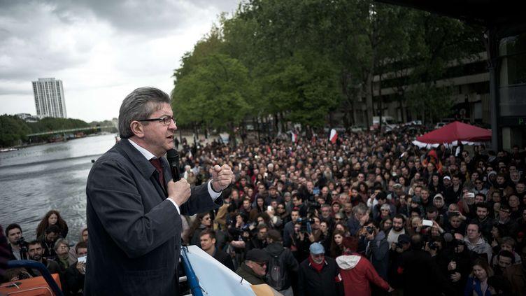 Jean-Luc Mélenchon, candidat de La France insoumise à la présidentielle, le 17 avril 2017 à Paris. (NICOLAS MESSYASZ/SIPA / NICOLAS MESSYASZ)