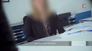 Envoyé spécial. Intérim, des faux contrats à la pelle (Envoyé spécial/France Télévisions (capture d'écran))