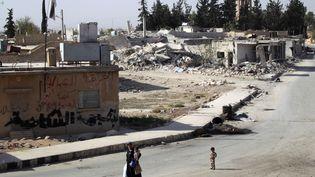 Le quartier rebelle de Al-Rai, bombardé à Alep (Syrie), le 5 octobre 2016 (KHALIL ASHAWI / REUTERS)