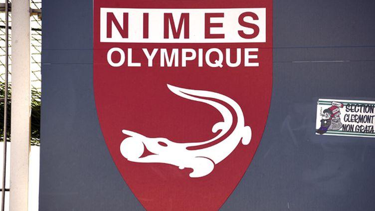 L'écusson du Nîmes Olympique (PASCAL GUYOT / AFP)