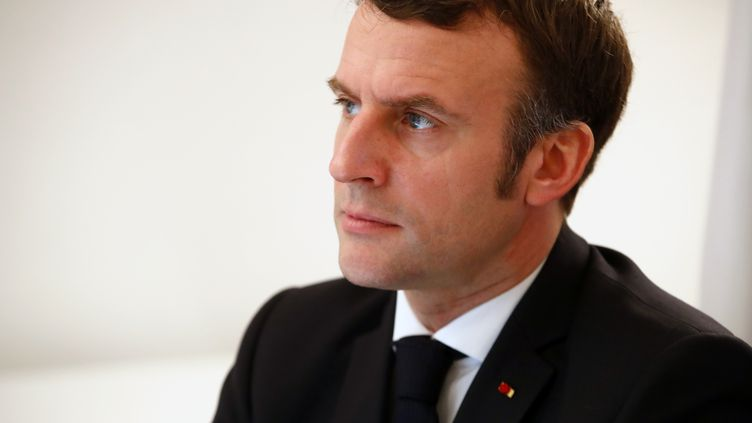 Emmanuel Macron, le 30 décembre 2020. (SEBASTIEN NOGIER / POOL)
