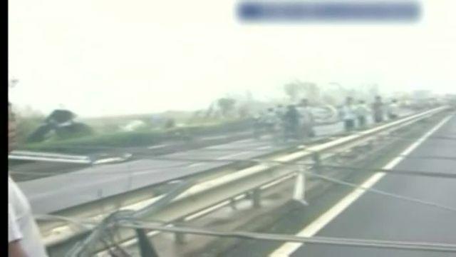 Une tornade a ravagé la province du Jiangsu, dans l'est de la Chine, jeudi 23 juin 2016.