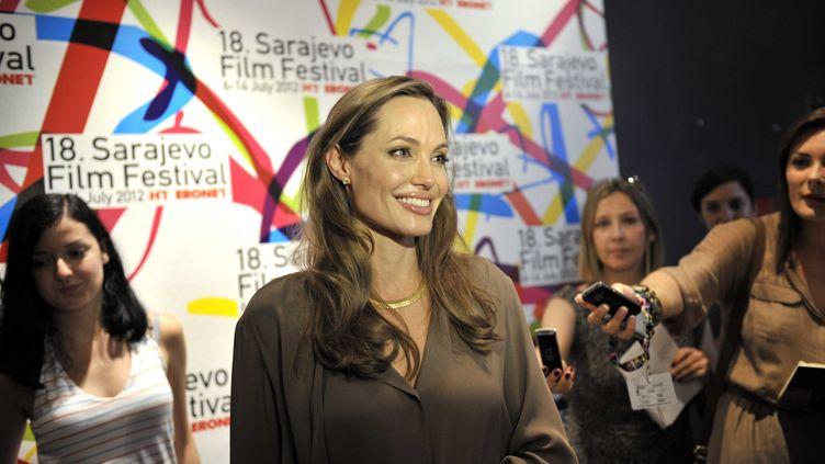 L'actrice américaine Anjelina Jolie, au festival de Sarajevo (Bosnie-Herzégovine), le 7 juillet 2012. (STJEPANOVIC DANKO / SIPA)