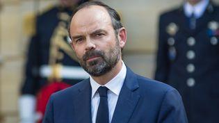 Edouard Philippe, lors de la passation de pouvoirs à Matignon, le 15 mai 2017. (JULIEN MATTIA / NURPHOTO / AFP)