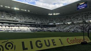 Le stade Matmut Atlantique de Bordeaux lors d'une rencontre de Ligue 1. (CAMILLE HUPPENOIRE / RADIOFRANCE)