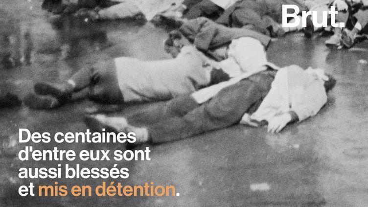 VIDEO. Algériens noyés dans la Seine : 58 ans plus tard, la France n'a toujours pas reconnu ce massacre comme un crime d'État (BRUT)