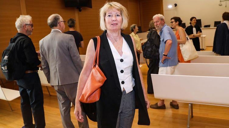 La petite-fille de René Gimpel, Claire Gimpel, le 25 juin 2019, lors de l'audienceen référé au tribunal de grande instance de Paris. (JACQUES DEMARTHON / AFP)
