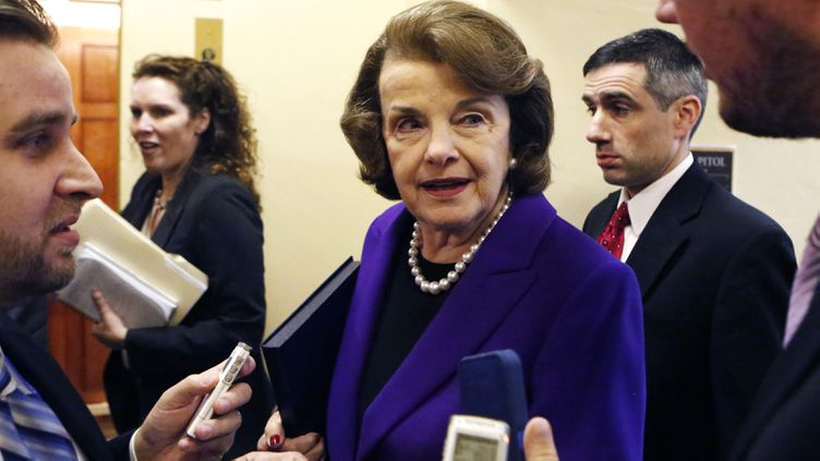 (Dianne Feinstein, la présidente démocrate de la Commission du renseignement du Sénat américain © Reuters)