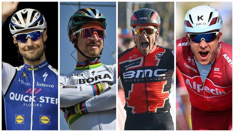 Tom Boonen, Peter Sagan, Greg Van Avermaet et Alexander Kristoff (de gauche à droite) sont prêts à se livrer une féroce bataille ce dimanche pour remporter la 101e édition du Tour des Flandres.