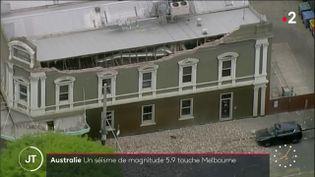 Les dégâts du séisme à Melbourne (Australie) (France 2)