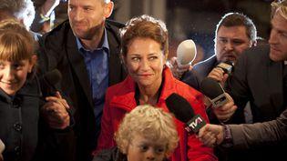 """""""Borgen"""", la célèbre série danoise créée par Adam Price en 2010, avec notammentMikael Birkkjær et Sidse Babett Knudsen, deux des acteurs principaux. (ARCHIVES DU 7EME ART / PHOTO 12 VIA AFP)"""