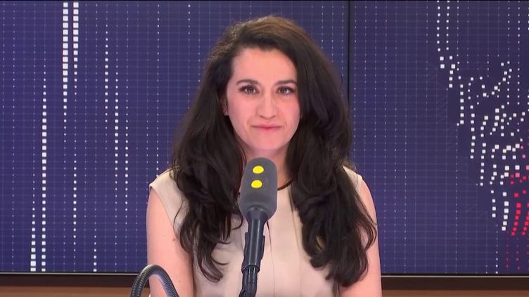 Lydia Guirous, porte-parole des Républicains, le 17 mai 2019 sur franceinfo. (FRANCEINFO / RADIOFRANCE)