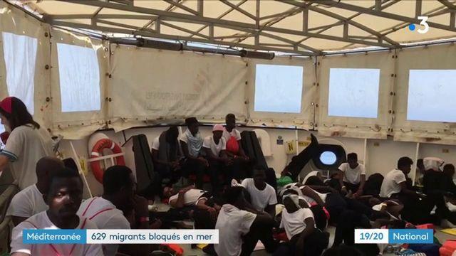 Méditerranée : 629 migrants bloqués en mer