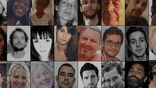 Un visage et un nom pour les 238 victimes du terrorisme en France depuis Charlie hebdo. (Franceinfo)