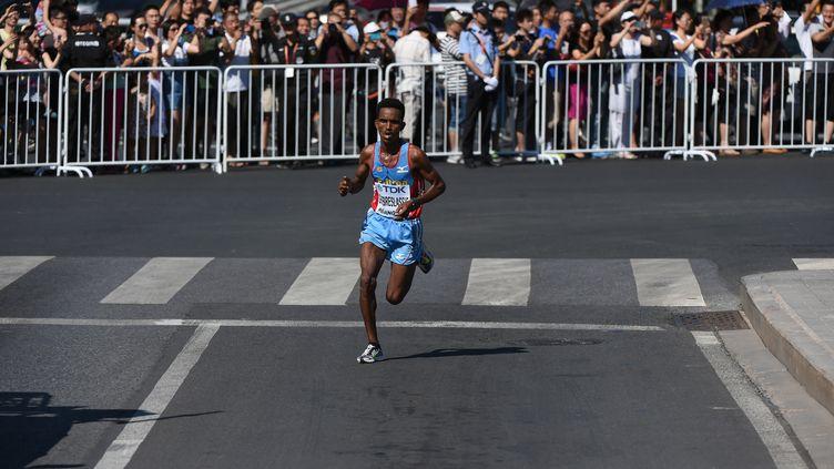 Ghebreslassie vainqueur du marathon de New York (GREG BAKER / AFP)