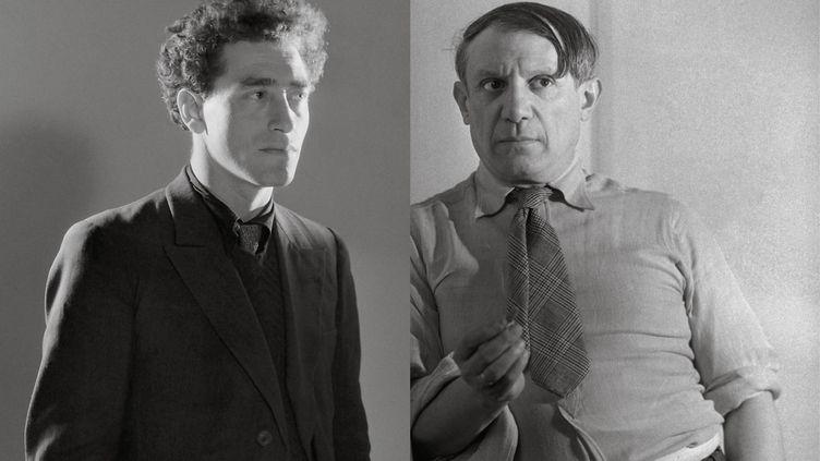 Alberto Giacometti et Pablo Picasso sur l'affiche de l'exposition au musée Picasso, à Paris. (DR / MUSÉE PICASSO)