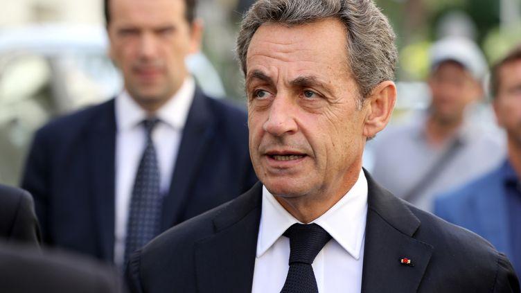 Nicolas Sarkozy, candidat à la primaire à droite, à Nice, le 17 septembre 2016. (VALERY HACHE / AFP)