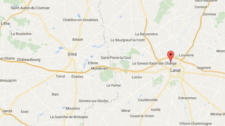 Changé, près de Laval (Mayenne). (GOOGLE MAPS)