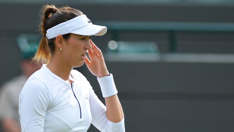 L'Espagnole Garbine Muguruza à Wimbledon.