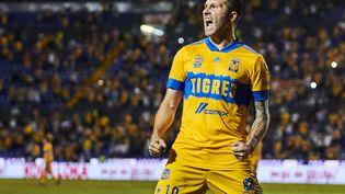 Le Français André-Pierre Gignac sera accompagné de Florian Thauvin dès la saison prochaine au Mexique, sous le maillot des Tigres de Monterrey. (JORGE MARTINEZ / 623)