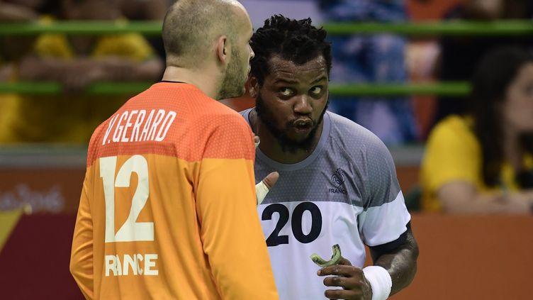 Début de la campagne de qualification pour l'Euro 2018 pour Cedric Sorhaindo, Thierry Omeyer et les Bleus (JAVIER SORIANO / AFP)