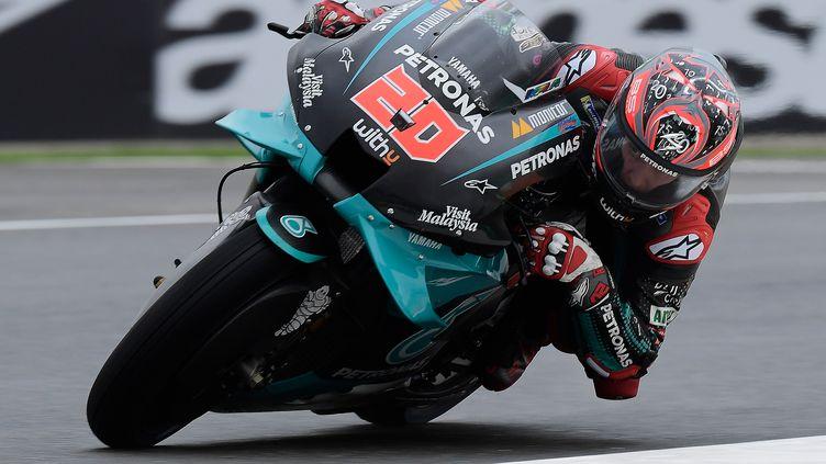 Le Français Fabio Quartararo (Yamaha) à l'attaque (JOSE JORDAN / AFP)