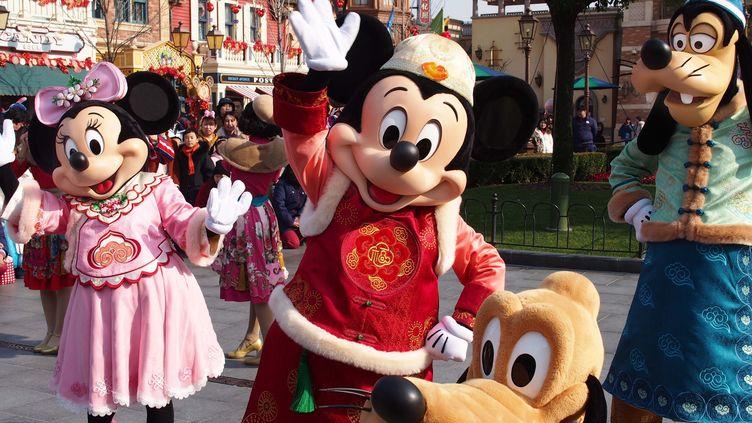 Le parc Disneyland à Shanghai (Chine), le 21 janvier 2019. (XINHUA/AFP)
