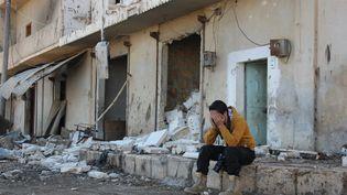 Dans une rue d'Alep (Syrie), le 14 novembre 2015. (MAXPPP)