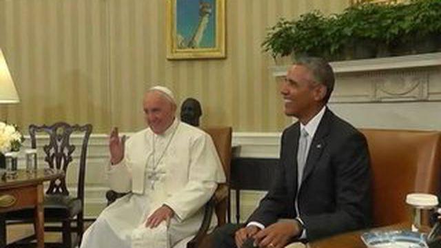 Le pape François acclamé aux États-Unis