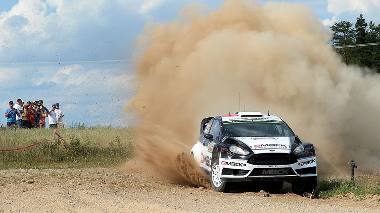 Ott Tanak (Ford Fiesta RS) (JANEK SKARZYNSKI / AFP)