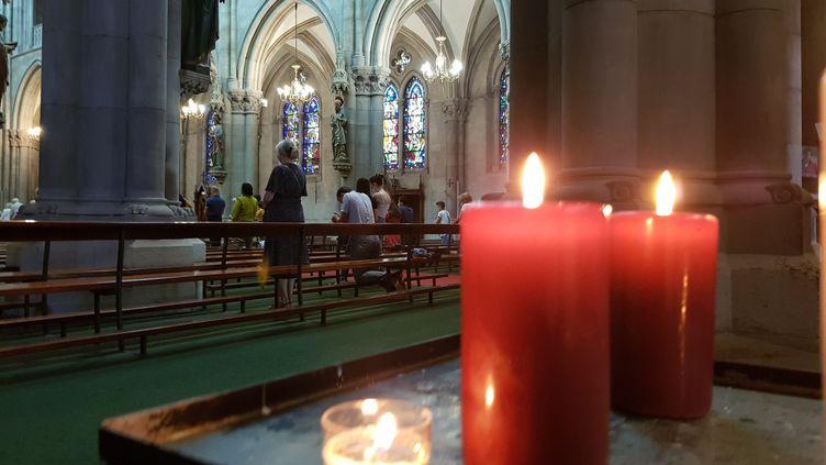 Une messe est célébrée en l'église Saint-Etienne de Mukhouse, le 27 juin 2021 (illustration). (JEAN-FRAN?OIS FREY / MAXPPP)