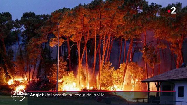 Anglet : l'incendie ravageur maitrisé