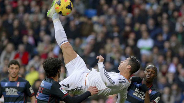 Cristiano Ronaldo a encore une fois mis les Merengue sur la voie du succès. (DANI POZO / AFP)