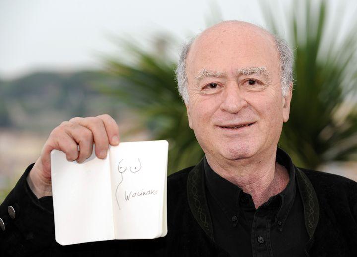Wolinski au festival de Cannes, le 16 mai 2008. (ANNE-CHRISTINE POUJOULAT / AFP)