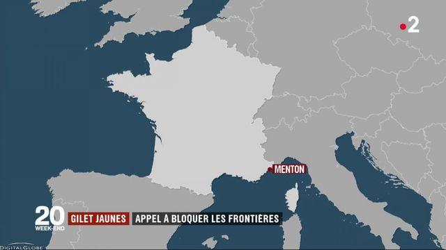 """""""Gilets jaunes"""" : un appel à bloquer les frontières"""
