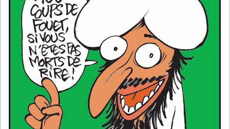 """La une du numéro spécial de """"Charlie Hebdo"""", """"Charia Hebdo"""", publié le mercredi 2 novembre 2011. (DR)"""