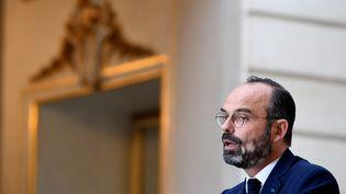 Le Premier ministre, Edouard Philippe, donne une conférence de presse à l'Elysée, le 27 novembre 2019. (ALAIN JOCARD / AFP)