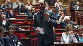 Edouard Philippe lors d'une séance de questions au gouvernement au Sénat, le 6 juillet 2017, au palais du Luxembourg à Paris. (JACQUES DEMARTHON / AFP)
