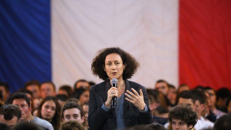 Emmanuelle Wargon,ministre de la Transition écologique et solidaire, à Étang-sur-Arroux le 7 février 2019. (LUDOVIC MARIN / AFP)