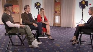 """Brad Pitt, Leonardo di Caprio etMargot Robbie ont répondu aux questions du """"20 heures"""" de France 2. (FRANCE 2)"""