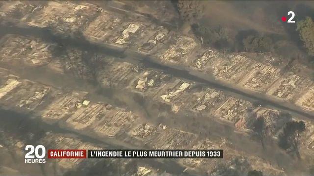 Californie : l'incendie le plus meurtrier depuis 1933