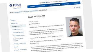 La photo de Salah Abdeslam, principal suspect encore vivant après les attentats de Paris, publiée mardi 17 novembre 2015 par la police fédérale belge. (POLICE FEDERALE BELGE)